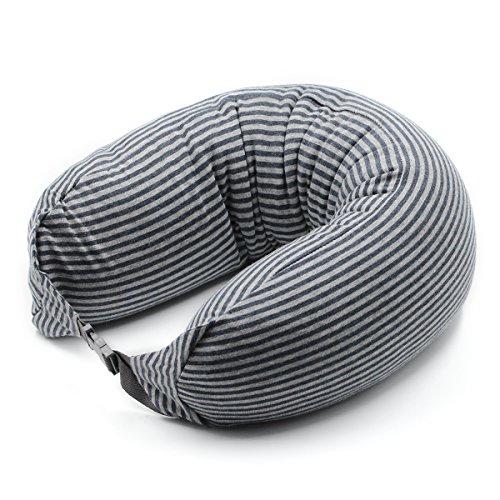 i-enjoyment ネックピロー U型 旅行用 飛行機 バス オフィス 自宅 軽量発泡粒子 低反発 クッション 首枕