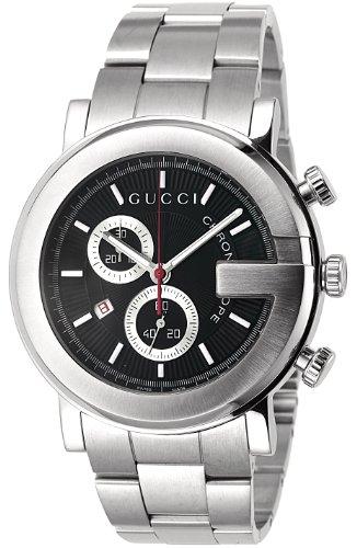 [グッチ]GUCCI 腕時計 101M ブラック SS クロノ...