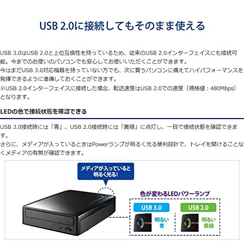 ブルーレイドライブ 外付型/USB 3.0/BDXL/M-DISC/16倍速高速書き込み BRD-UT16WX 5枚目のサムネイル