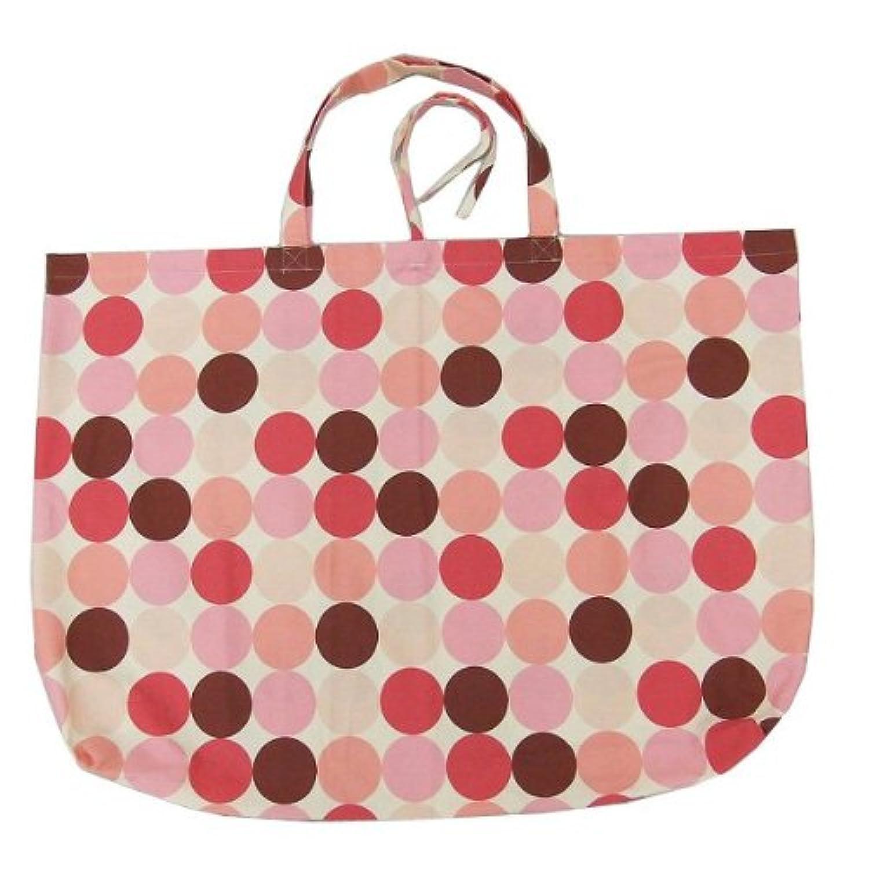 手作り 大きな お昼寝ふとん袋(ピンクドット柄)/お昼寝(ベビー)掛け敷きふとんが入るバッグ