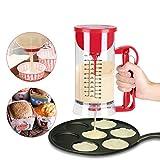 バッターディスペンサー 小麦アロケーター たこ焼きの穴に バターディスペンサー カップケーキ ハンドミキサー 泡立て器  かき混ぜ&注ぎが簡単