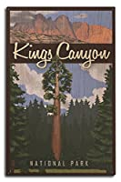 Kings Canyon国立公園、カリフォルニア – ビッグツリーとPalisades 10 x 15 Wood Sign LANT-83565-10x15W