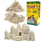 (チラカサンド) 追加用 砂 1kg 色つき で お片付け簡単 ふしぎな砂 カラー サンド 散らばらない 砂 (追加砂 ホワイト 1kg)