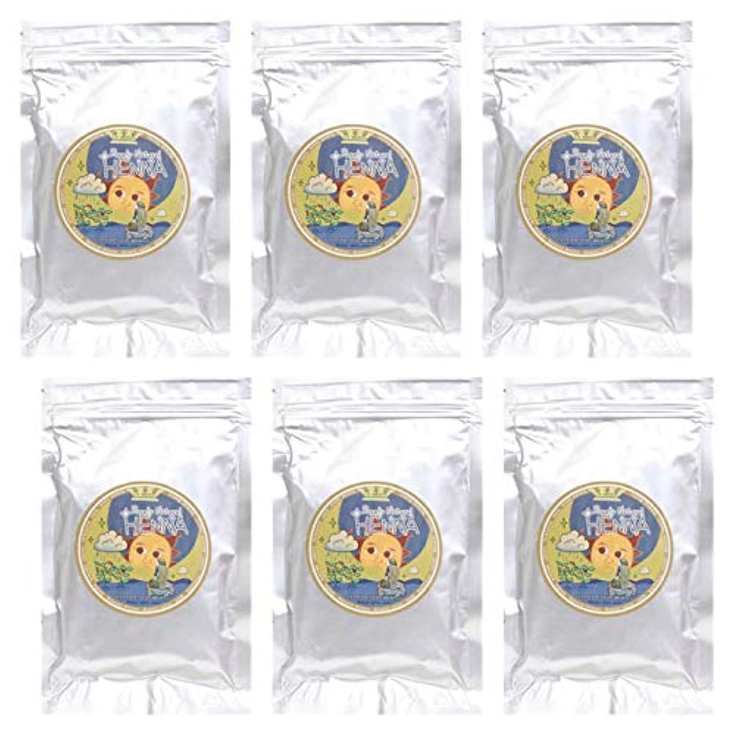 リンク知覚法的ラムーンヘナ ナチュラル ヘナ 100g×6袋セット (ナチュラルライトブラウン【6袋】)
