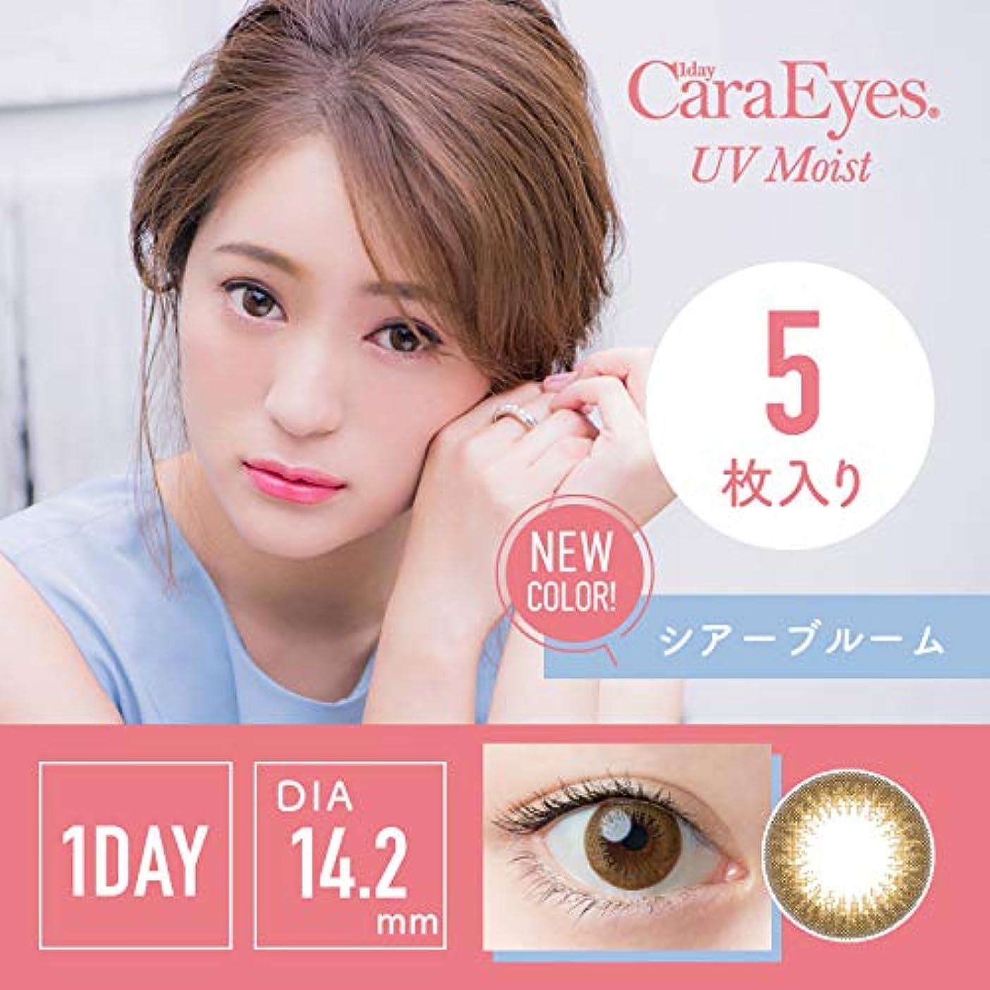 連続したシャープ肘ワンデーキャラアイUV&モイスト カラーシリーズ 5枚入 【シアーブルーム】 -7.50
