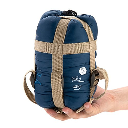 【全4カラー】 軽量 封筒型 シュラフ 寝袋 キャンプ アウトドア 並行輸入品 (ネイビー)