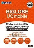 【Amazon.co.jp限定】BIGLOBE UQ mobile ぴったりプラン エントリーパッケージ au対応SIM データ通信/音声通話 / VEK52JYV
