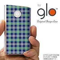 glo グローケース カバー グロー チェックB 青 nk-glo-438