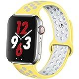 コンパチブルApple Watch バンド44mm 40mm 38mm 42mmと互換性があります適合iWatch Series SE/6/5/4/3/2/1用の ソフトシリコンスポーツ交換用ストラップ