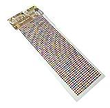 ラインダイアモンドのデコレーションステッカー 1000粒 (カラーミックス)