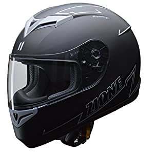リード工業(LEAD) バイク用フルフェイスヘルメット ZIONE (ジオーネ) グレー LLサイズ (61-62cm未満) -
