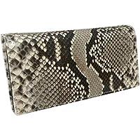 蛇革 パイソン 財布 メンズ/艶有 長財布(157)