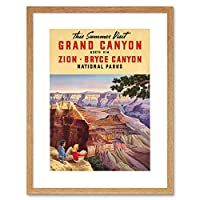Travel Summer Grand Canyon North Rim Bryce National Park Framed Wall Art Print