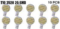 focuslife 10xウォームホワイトt10194921W5w 24-smd LED RV造園ライトランプ電球米国Ship