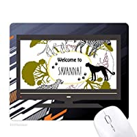 アフリカのサバンナシマウマようこそヒョウ野生生物への ノンスリップラバーマウスパッドはコンピュータゲームのオフィス
