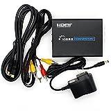 コンバーター HDMI 変換 to コンポジット映像信号/S端子 アナログ変換器 RCA/S-Videoケーブル付属 (HDMI TO AV+S VIDEO ケーブル付属)