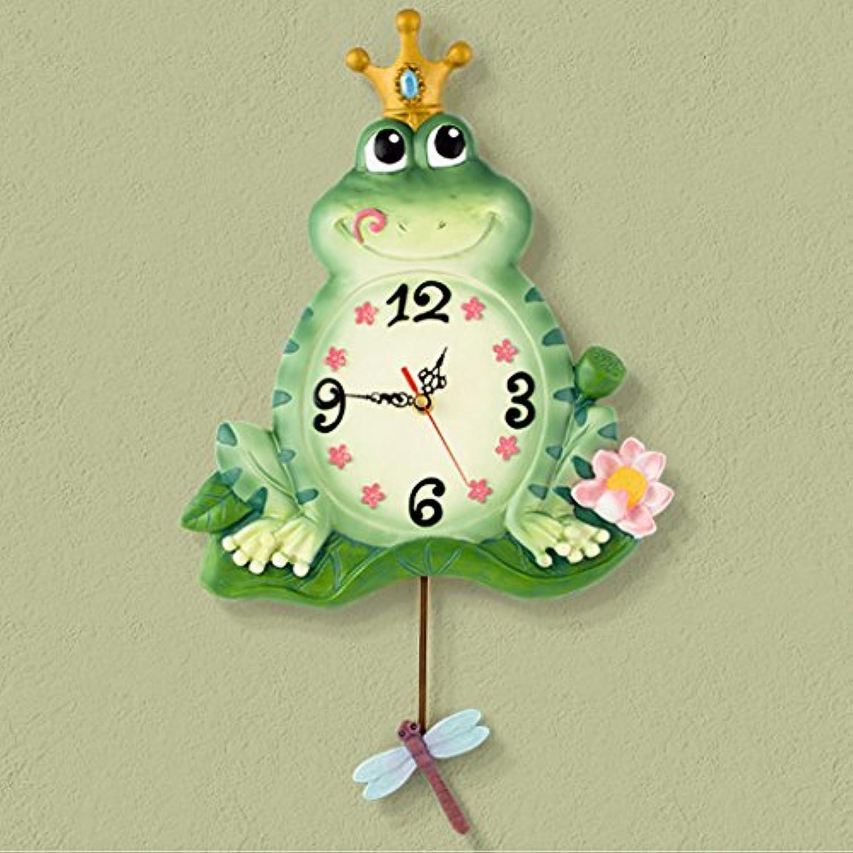 蛙 壁時計 壁掛け 時計 北欧 かわいい おしゃれ リビング 掛け時計 壁掛け振り子時計 子供部屋 樹脂 OSONA