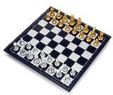 ZooooM 本格 マグネット チェス 豪華 ボード ゲーム ゴールド シルバー 金 銀 ( 25 × 25 × 2 cm ) ZM-HOB2120
