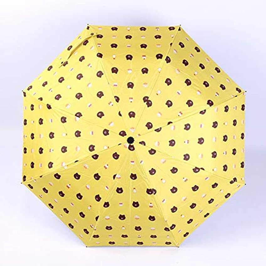 思いやりのある前文ヒューズHAPPY HOME 三つ折り傘黒プラスチック太陽傘日焼け防止傘日傘 傘折りたたみ天気傘