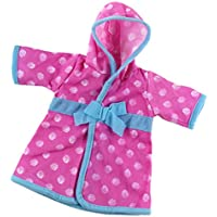 Lovoski 全2カラー ファッション 人形パジャマ 寝間着 服装 アクセサリー 18インチアメリカガールドール人形用 - ピンク