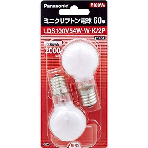 パナソニック ミニクリプトン電球 100V 60W形(54W...