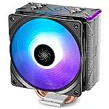 DEEPCOOL RGB CPU Cooler 4 Heat pipes 120mm RGB Fan Universal Socket Solution (GAMMAXX GT BK) [並行輸入品]