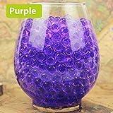 吸収ビーズ 水ビーズ ジェリーボール クリスタルマッド FidgetFidget 花瓶の注入口の土壌植物の装飾のための3000個のクリスタル泥水バブルビーズ 紫の