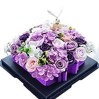 ソープフラワー 石鹸花 ケーキボックス バラ ローズフラワー 薔薇 紫陽花 うさぎ 母の日 バレンタイン ホワイトデー 結婚式 プレゼント