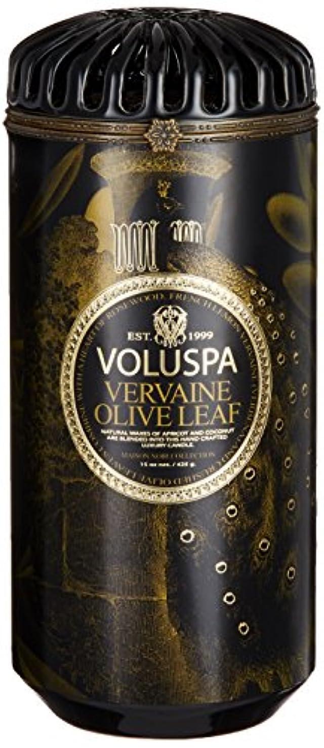 忘れっぽい強制的時期尚早VOLUSPA メゾンブラック セラミックキャンドル バーベイン オリーブ リーフ