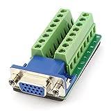 uxcell DB15アダプタ D-SUB DB15 VGA 15ピンジャックポート ブレークアウト基板コネクタ