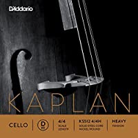 D'Addario Kaplan Cello Single D String 4/4 Scale Heavy Tension [並行輸入品]
