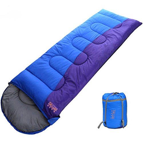 寝袋 封筒型 軽量 アウトドア 登山 車中泊 丸洗い 最低使用温度-9度 収納袋付き