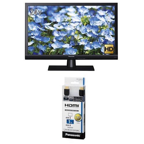 パナソニック 24V型 ハイビジョン 液晶 テレビ VIERA TH-24D325 + ハイスピードHDMIケーブル 1.0m ブラック RP-CHE10-K セット