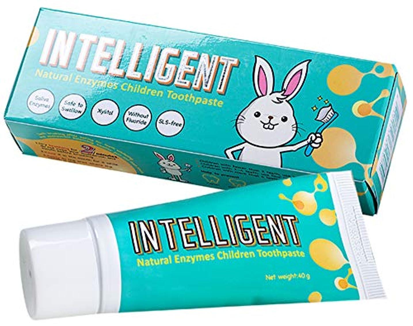設計ジャグリングキャンペーンインテリジェント唾液の自浄酵素入り子供用歯磨き粉40g 【フッ素無し、泡立ちなし、うがい不要】【キシリトール原味, 1個】