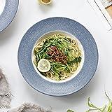 セラミックボールラーメンボウル - 和風セラミック食器鉢フルーツサラダラーメン丸皿、直径26.2 CM