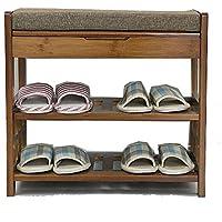 YANFEI 靴スツール多機能リビングルームストレージスツール竹竹スツールはシンプルなドア靴ラックに座ることができます (サイズ さいず : 53*49*29CM)