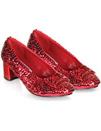 Pleaser Shoes 185856 Judy- Red Sequin Child Shoes