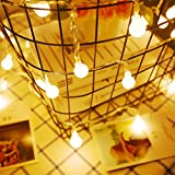 DecorNova ストリングライト イルミネーションライト 飾りLEDライト ワイヤーライト 電球色 50球 5.5M 8モード リモコン付き 防水 単三電池式