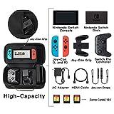 Nintendo Switch 収納 ケースSHareconn 旅行用 バッグ 任天堂スイッチキャリングケース ハードケース、黒