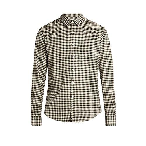 (トゥモローランド) Tomorrowland メンズ トップス カジュアルシャツ Long-sleeved gingham brushed-cotton shirt 並行輸入品