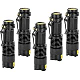 OZSTOCK® 5x CREE Q5 LED Zoomable Focus Bright Flashlight Torch 1200LM Light AA/14500