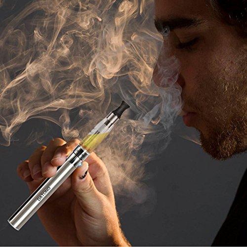 DATONG電子タバコ 2本セット タバコ並みの味 健康的に禁煙、節煙をサポート ブラック/ シルバー