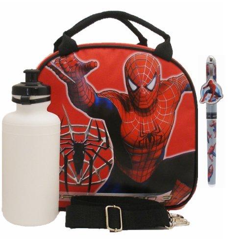 おもちゃ Spiderman スパイダーマン Lunch Bag with a Water Bottle - Red [並行輸入品]
