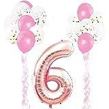 KUNGYO ローズゴールド 誕生日パーティーデコレーションキット 大人 子供 - 誕生日 文字バルーン バナー 星 ホイルバルーン ラテックス 紙吹雪バルーン リボン33個 パーティー用品 L KY