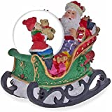 8.9cm Santa Claus Rocking Sleigh Water Snow Globe