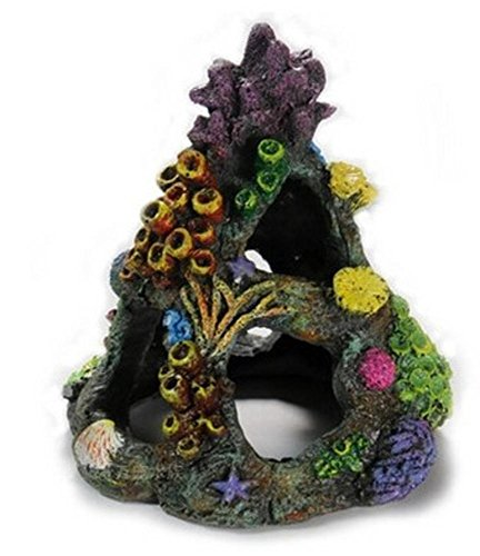 (スマイル)smile 水槽 オブジェ アクアリウム オーナメント 素敵な サンゴ ハウス 鑑賞 金魚 熱帯魚 装飾 置物