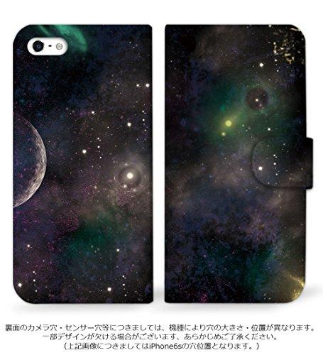 mitas REGZA Phone T-01D ケース 手帳型  宇宙柄 A (194) SC-0109-A/T-01D