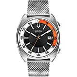ブローバ Bulova Acutron II Black Dial Stainless Steel Quartz Men's Watch 96B208 [並行輸入品]