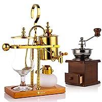 ベルギーのコーヒーポット、 サイフォニック アルコールランプ 王室貴族  コーヒーメーカー ローズゴールド (Color : Gold)