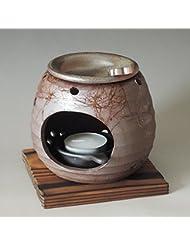茶香炉 常滑焼 石龍作「藻掛け」川本屋茶舗